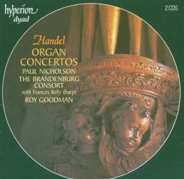 ORGAN CONCERTOS BARNDENBURG CONSORT Audio CD, G.F. HANDEL, CD