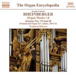 ORGAN WORKS VOL.8 W/RUBSAM Audio CD, J. RHEINBERGER, CD