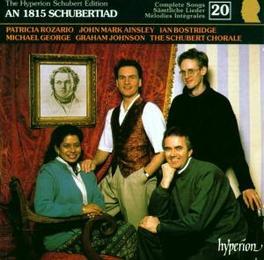 SCHUBERT EDITION 20 W/ROZARIO, JOHNSON-AN 1815 SCHUBERTIAD 1 Audio CD, F. SCHUBERT, CD