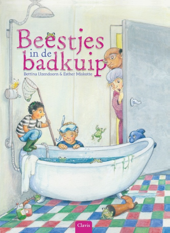 Beestjes in de badkuip Bettina IJzendoorn, Hardcover