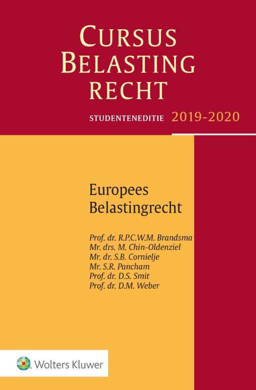 Studenteneditie Cursus Belastingrecht Europees belastingrecht 2019-2020. Paperback