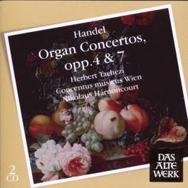 ORGAN CONCERTOS OPP.4 & 7 HARNONCOURT/TACHEZI Audio CD, G.F. HANDEL, CD