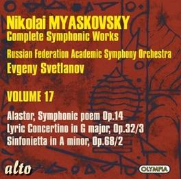 COMPLETE SYMPHONIC WORKS RUSSIAN FED.ACAD.S.O./EVGENY SVETLANOV Audio CD, N. MYASKOVSKY, CD