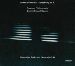 SYMPHONY NO.9/NUNC DIMITT HILLIARD ENSEMBLE/ELENA VASSILIEVA Audio CD, SCHNITTKE/RASKATOV, CD