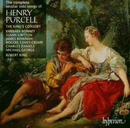 COMPLETE SECULAR SONGS THE KING'S CONSORT Audio CD, H. PURCELL, CD