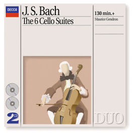 CELLOSUITES 1-6 MAURICE GENDRON Audio CD, J.S. BACH, CD