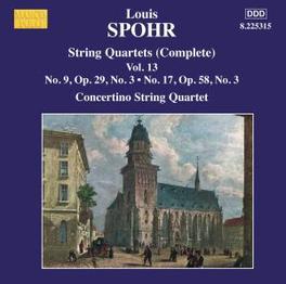 STREICHQUARTETTE 9+17 CONCERTINO STRING QUARTET Audio CD, L. SPOHR, CD