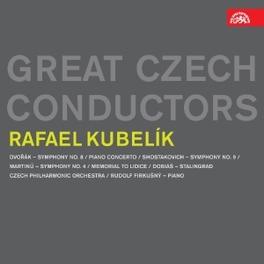 SYMPHONY NO.8/PIANO CONCE RAFAEL KUBELIK//WORKS BY DVORAK/SHOSTAKOVICH... CZECH PHILHARMONIC ORCHES, CD