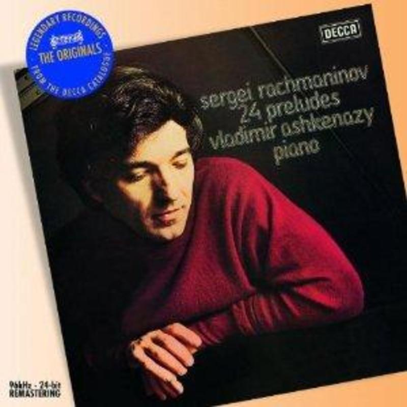 PRELUDES VLADIMIR ASHKENAZY Audio CD, S. RACHMANINOV, Audio Visuele Media