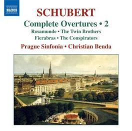 OVERTURES VOL.2 PRAGUE SINFONIA/BENDA Audio CD, F. SCHUBERT, CD