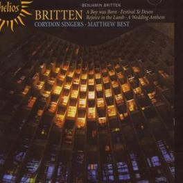 A BOY WAS BORN & OTHER CH CROYDON SINGERS/M.BEST Audio CD, B. BRITTEN, CD