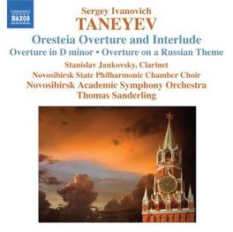 ORCHESTRAL WORKS NOVOSIBIRSK ASO//SANDERLING Audio CD, S. TANEYEV, CD