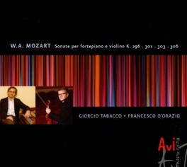 SONATAS FOR PIANOFORTE & GIORGIO TABACCO/FRANCESCO D'ORAZIO W.A. MOZART, CD