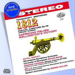 OVERTURE 1812/CAPRICCIO I MINNEAPOLIS S.O./ANTAL DORATI Audio CD, TCHAIKOVSKY/BEETHOVEN, CD