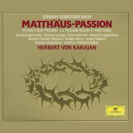 MATTHAUS PASSION KARAJAN/BERLINER PHIL./JANOWITZ/SCHREIER/FISCHER Audio CD, J.S. BACH, CD