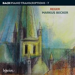 PIANO TRANSCRIPTIONS V.7 MARKUS BECKER Audio CD, BACH/REGER, CD