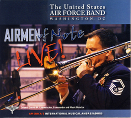 AIRMEN OF NOTE LIVE AIRMEN OF NOTE, CD