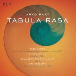 TABULA RASA/SYMPHONY.. .. 1/COLLAGE ON A THEME B-A-C-H/PRO ET CONTRA/180GR. ARVO PART, Vinyl LP