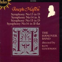 SYMPHONIES 13-16 HANOVER BAND/ROY GOODMAN Audio CD, J. HAYDN, CD