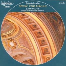 ORGAN MUSIC W/JOHN SCOTT Audio CD, MENDELSSOHN-BARTHOLDY, F., CD