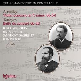 ROMANTIC VIOLIN CONCERTO BBC SCOTTISH S.O./VOLKOV Audio CD, ARENSKY/TANEYEV, CD