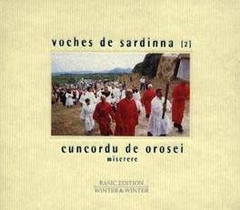VOCHES DE SARDINNA 2 MISERERE -7 SINGERS SING HYMNS IN PERFECT HARMONY- Audio CD, CUNCORDU DE OROSEI, CD