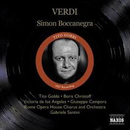 SIMON BOCCANEGRA ROME OPERA HOUSE ORCHESTRA, GABRIELE SANTINI Audio CD, G. VERDI, CD
