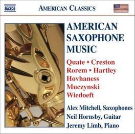 AMERICAN SAXOPHONE MUSIC W/MITCHELL, HORNSBY, LIMB QUATE/CRESTON, CD