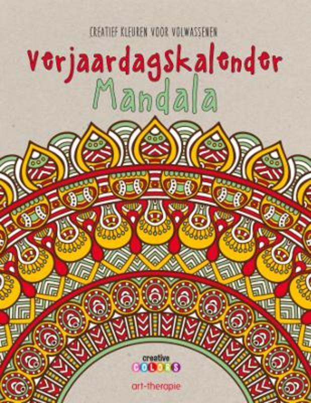 Verjaardagskalender mandala, kleuren voor volwassenen