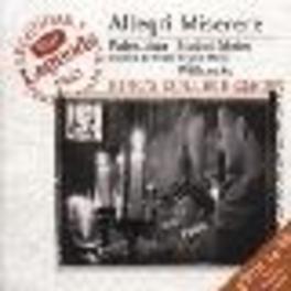 MISERERE/STABAT MATER W/KING'S COLLEGE CHOIR Audio CD, ALLEGRI/PALESTRINA, CD