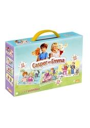 Casper en Emma 3 in 1 box - (Puzzel+Memo+Domino)