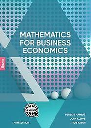 Mathematics for Business Economics. Herbert Hamers, Paperback