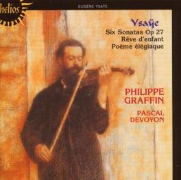 SIX SONATAS OP.27 W/PHILIPPE GRAFFIN Audio CD, E. YSAYE, CD