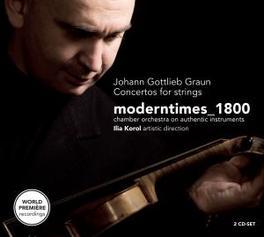 CONCERTOS FOR STRINGS MODERNTIMES 1800 Audio CD, J.G. GRAUN, CD