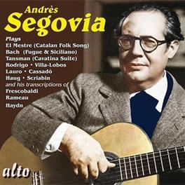 VARIOUS GUITAR WORKS LLOBET/BACH/SEGOVIA/HAYDN... Audio CD, ANDRES SEGOVIA, CD