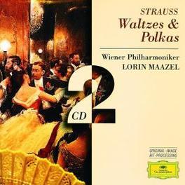 WALTZES & POLKAS W/WIENER PHILHARMONIKER, LORIN MAAZEL Audio CD, J. STRAUSS, CD
