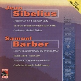 SYMPHONY NO.5 OP.82 W/VLADIMIR YESIPOV, STATE S.O. USSR, Audio CD, SIBELIUS/BARBER, CD
