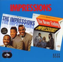 IMPRESSIONS/NEVER ENDING 24 TRACKS:2 LP'S FROM 63 & 64 Audio CD, IMPRESSIONS, CD