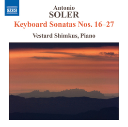 KEYBOARD SONATAS NO.16-27 VESTARD SHIMKUS A. SOLER, CD