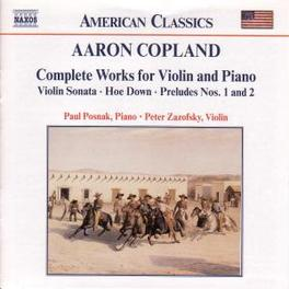 COMPLETE WORKS FOR VIOLIN A. COPLAND, CD