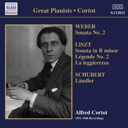 GREAT PIANISTS WORKS BY WEBER/SCHUBERT/BRAHMS/LISZT Audio CD, ALFRED CORTOT, CD