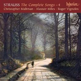 COMPLETE SONGS VOL.4 MALTMAN, MILES, VIGNOLES Audio CD, R. STRAUSS, CD