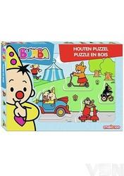 Bumba - Houten puzzel met dikke stukken - Voertuigen