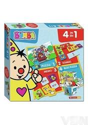 Bumba - 4-in-1 spel (memo,domino,puzzel,blokpuzzel)