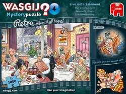 Wasgij Retro Mystery 4 - Live Entertainment! (1000 stukjes)