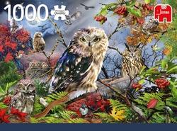 Premium Collection puzzel - Owls in the Moonlight (1000 stukjes)