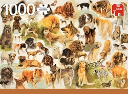 Premium Collection puzzel - Dogs Poster (1000)
