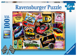 Prikbord met raceauto's (100 stukken, XXL)