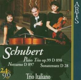 PIANO TRIO OP.99 TRIO ITALIANO Audio CD, F. SCHUBERT, CD