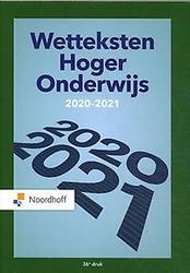 Wetteksten Hoger Onderwijs...
